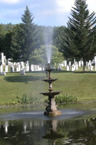 cemetery fountain